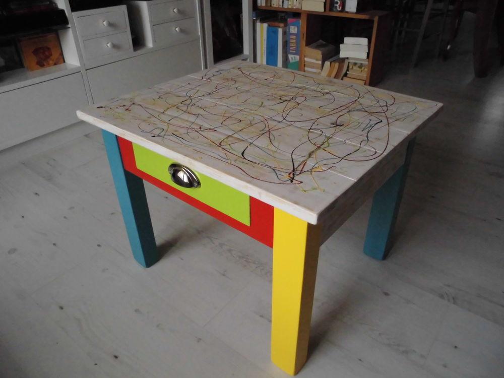Tables basse bois occasion nimes 30 annonces achat et - Table basse peinte ...