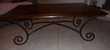 Table basse bois et fer forgé. Meubles