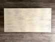 Table basse en bois de teck massif Indonésien, patinée blanc Meubles
