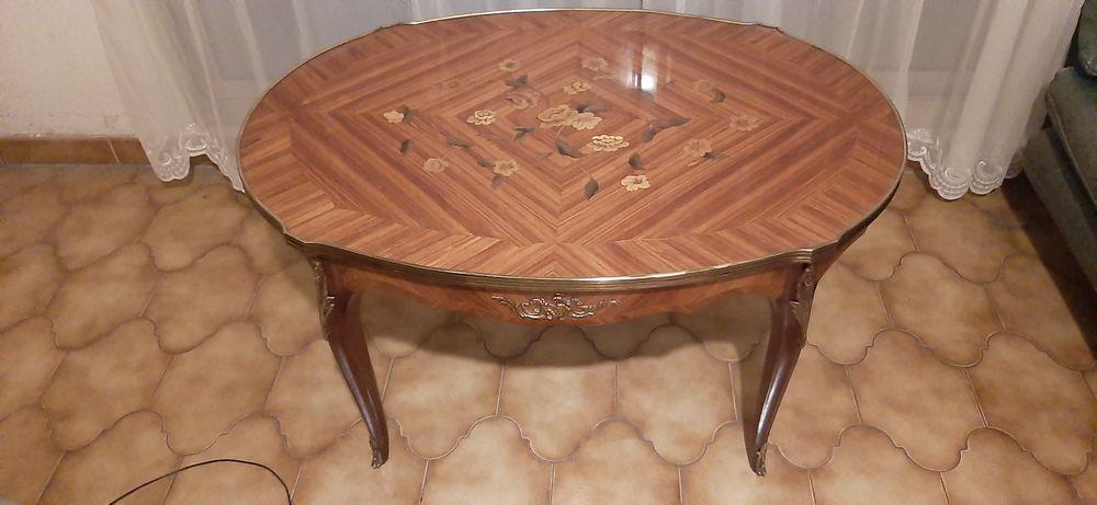 table basse en bois de rose marqueterie avec moulures 300 Hyeres Plage (83)