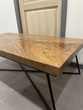 Table basse bois massif de suar et acier noir