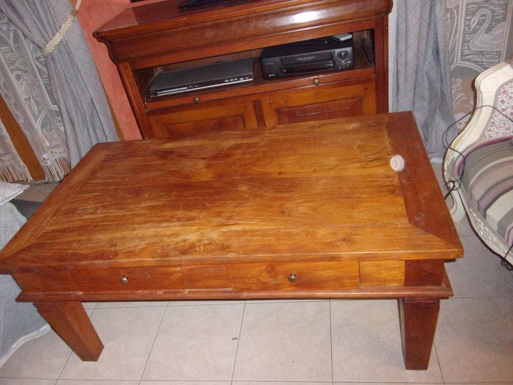 Table basse bois massif (pin ou sapin) 120*70*50 2 tiroirs 1 120 Le Péage-de-Roussillon (38)