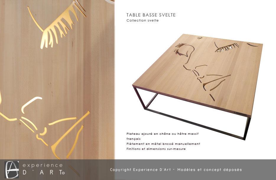 TABLE BASSE bois métal de créateur! pièce unique Lehoux 0 Vitry-sur-Seine (94)