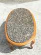 Table basse en bois avec plateau en granit non fixe