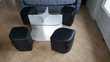 Table basse carrée avec 4 poufs Meubles