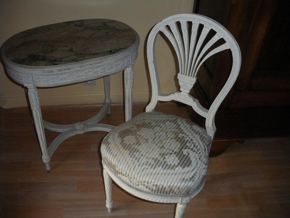 table  basse et chaise anciennes - style marie antoinette  80 Sampigny-lès-Maranges (71)