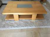 table basse chêne et ses 2 tables de chevets, très  bon état 90 Biot (06)