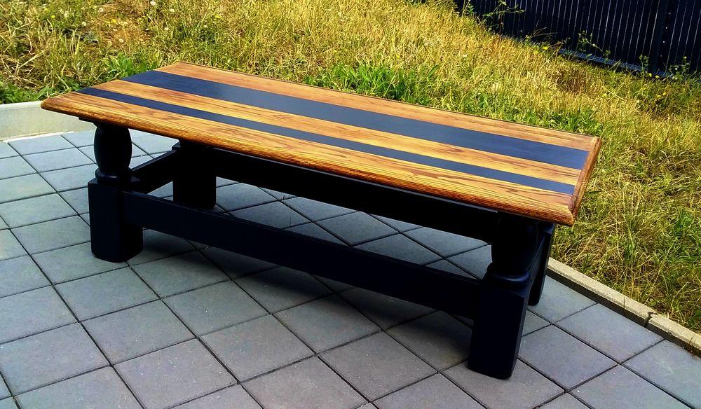 Table basse en chêne relookée 110 Uckange (57)