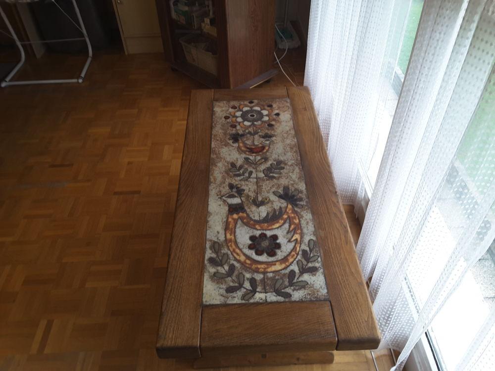 Table basse Chêne et Grès décoratif 80 Melun (77)