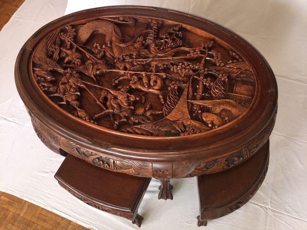 Table basse chinoise sculptée 400 Paris 20 (75)