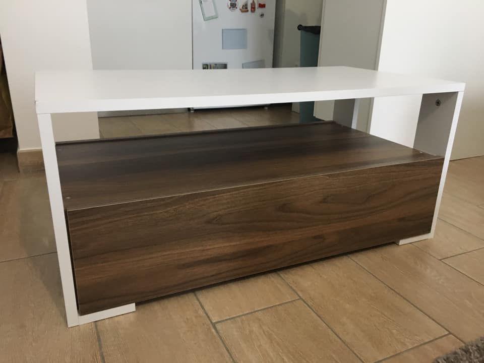 Table basse coffre bois et blanc 85 Fontenay-sous-Bois (94)