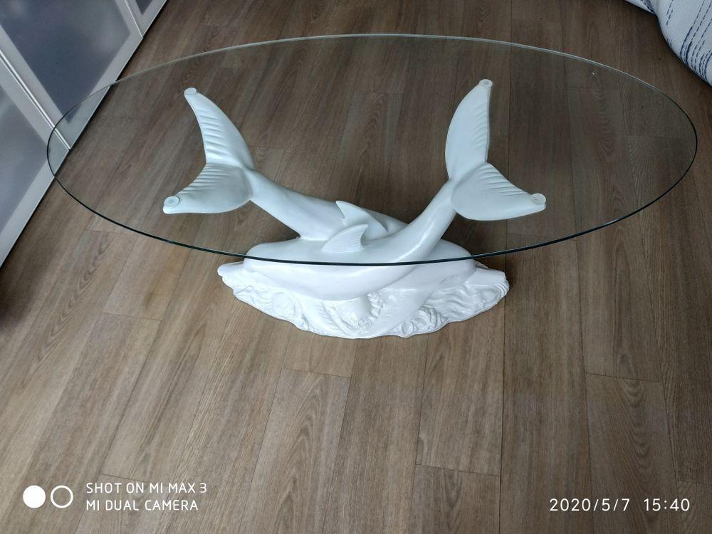 table basse dauphin blanc 150 Poigny (77)