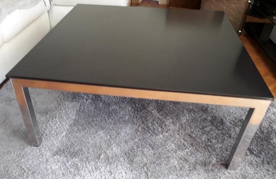 Table basse design contemporain inox verre 350 Antony (92)