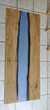 Table basse en epoxy et bois (chêne) avec effet rivière bleu Meubles