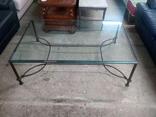 Table basse en fer forgé et verre 120 Toulouse (31)