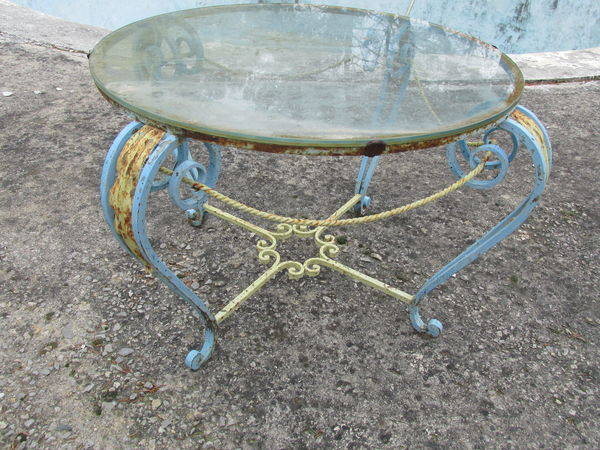 table basse fer forgé ronde 70 Flayosc (83)
