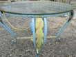 table basse fer forgé ronde Meubles