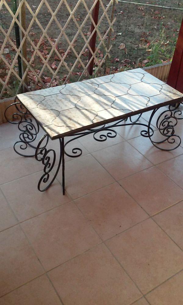 Table basse fer forgé artisanale 60 Saint-Loubès (33)