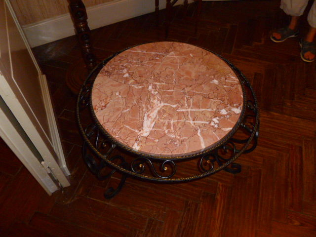 Table basse en fer forgé et marbre 50 Denain (59)
