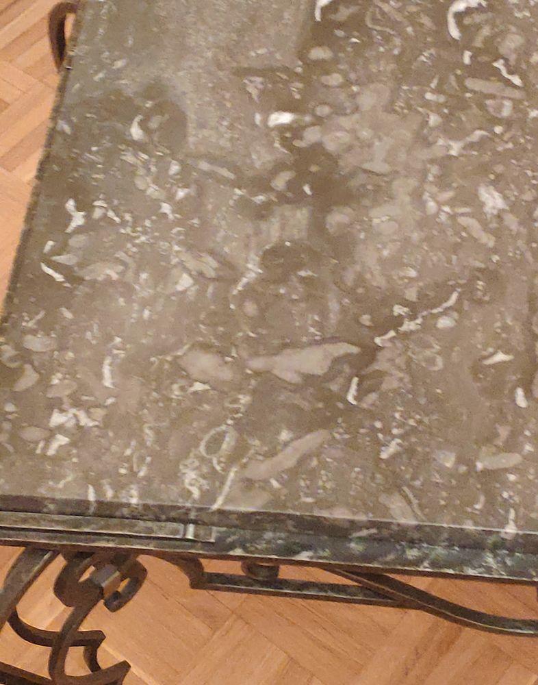 Table basse fer forgé et  marbre parfait état  320 Bourges (18)