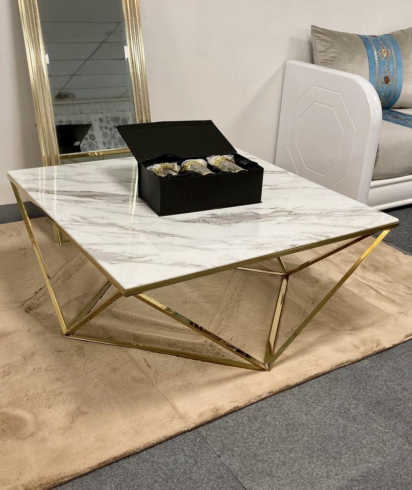 table basse gigogne marbre or 1 Évry (91)