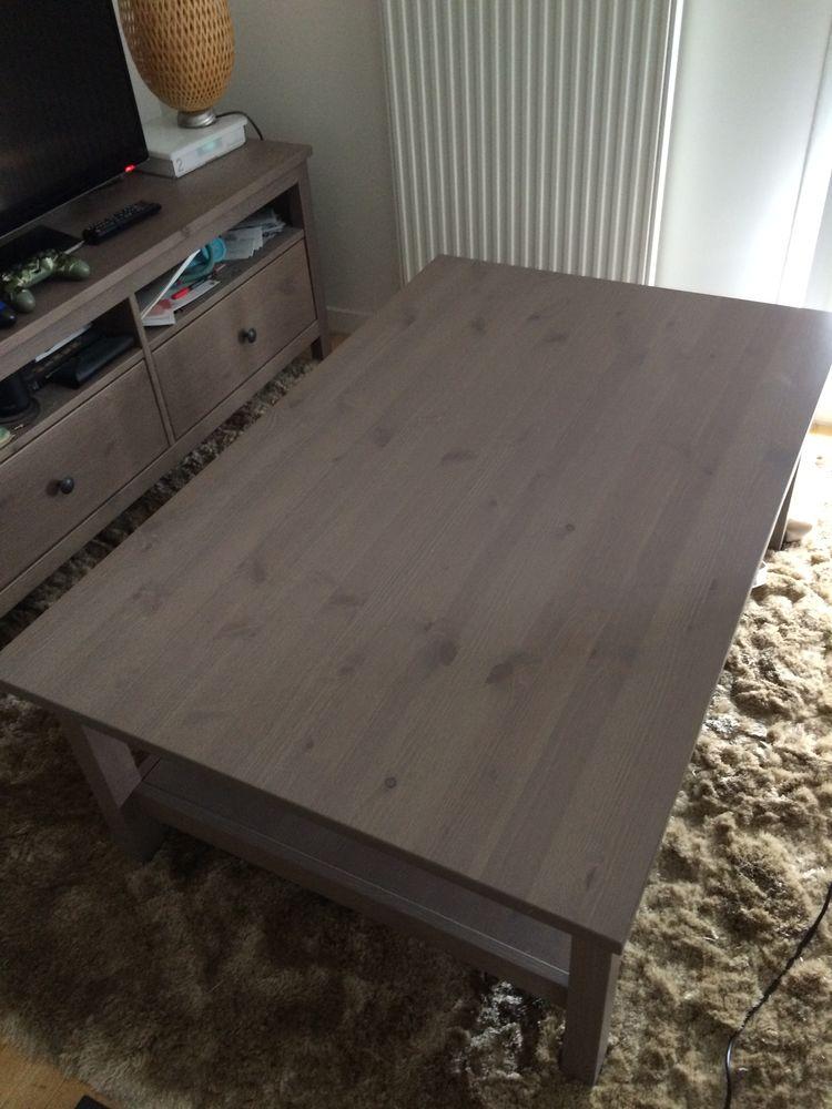Table Basse Ikea Hemnes 118x75cm Gris Brun
