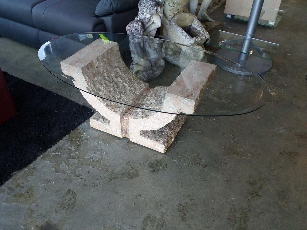 Table basse imitation pierre Meubles