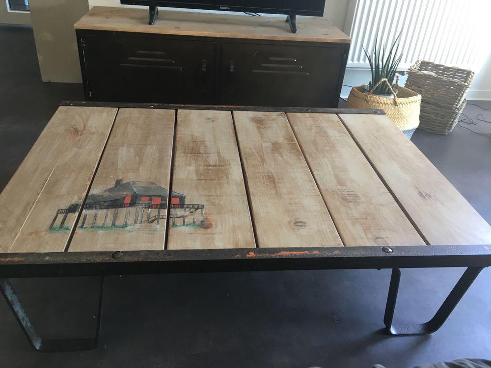 table basse industrielle 220 Arès (33)