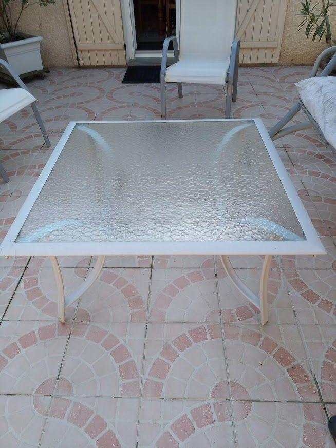 TABLE BASSE DE JARDIN AVEC PLATEAU EN VERRE 0 Brie-Comte-Robert (77)