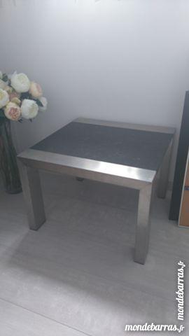 TABLE BASSE MARBRE ALU H 38 CM PLATEAU 55 CM 40 Mérignies (59)