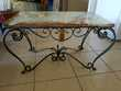 table basse marbre/fer forge Meubles