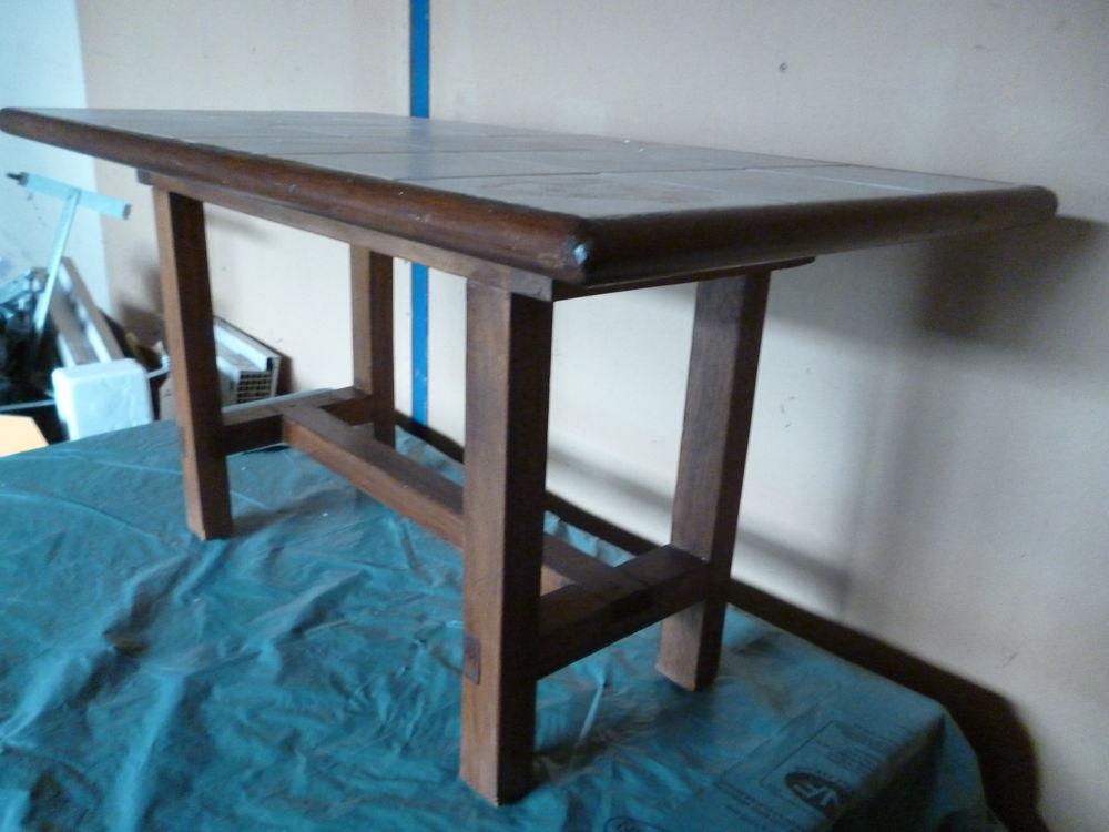 Table basse pin massif sans vis assemblée chevilles bois 40 Neuillé-Pont-Pierre (37)