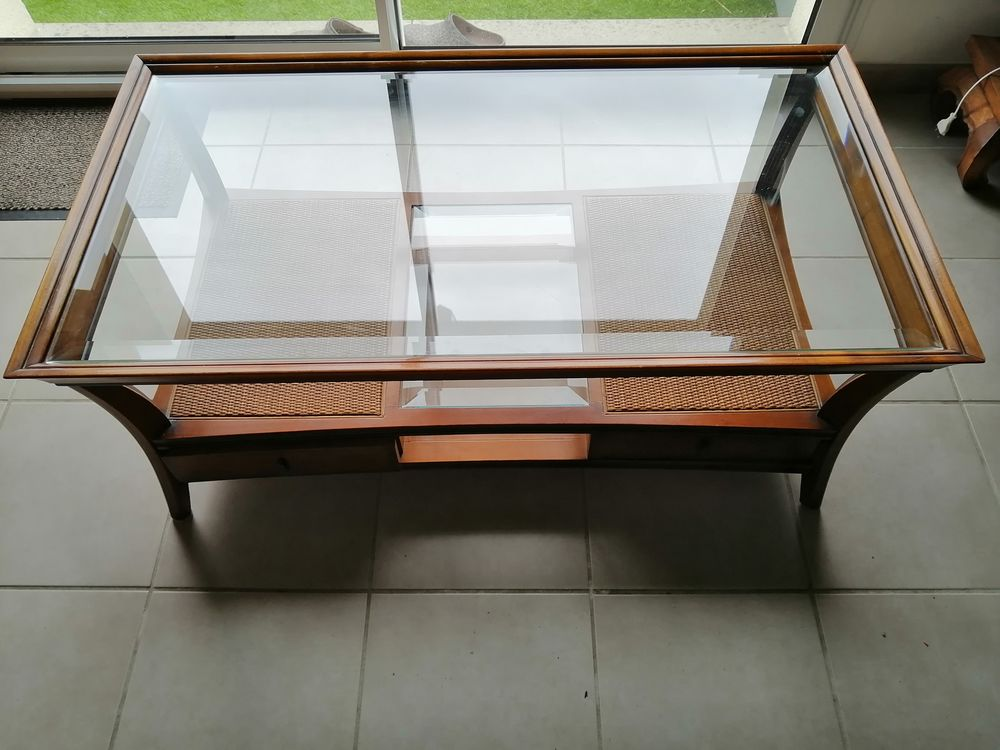 Table basse en merisier dessus en verre 190 Mérignac (33)