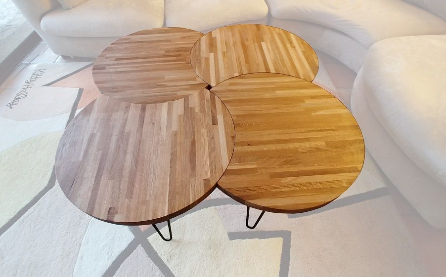 Table basse modulaire en bois massif 490 Paris 1 (75)