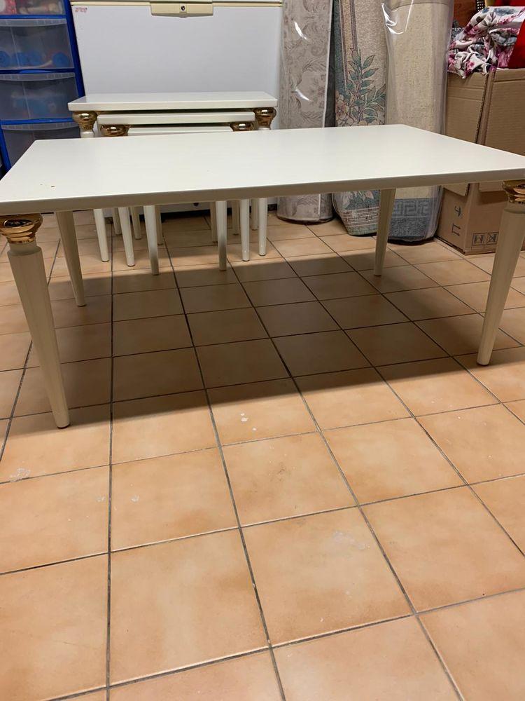 table basse neuve blanc pieds doré 150 Courcouronnes (91)