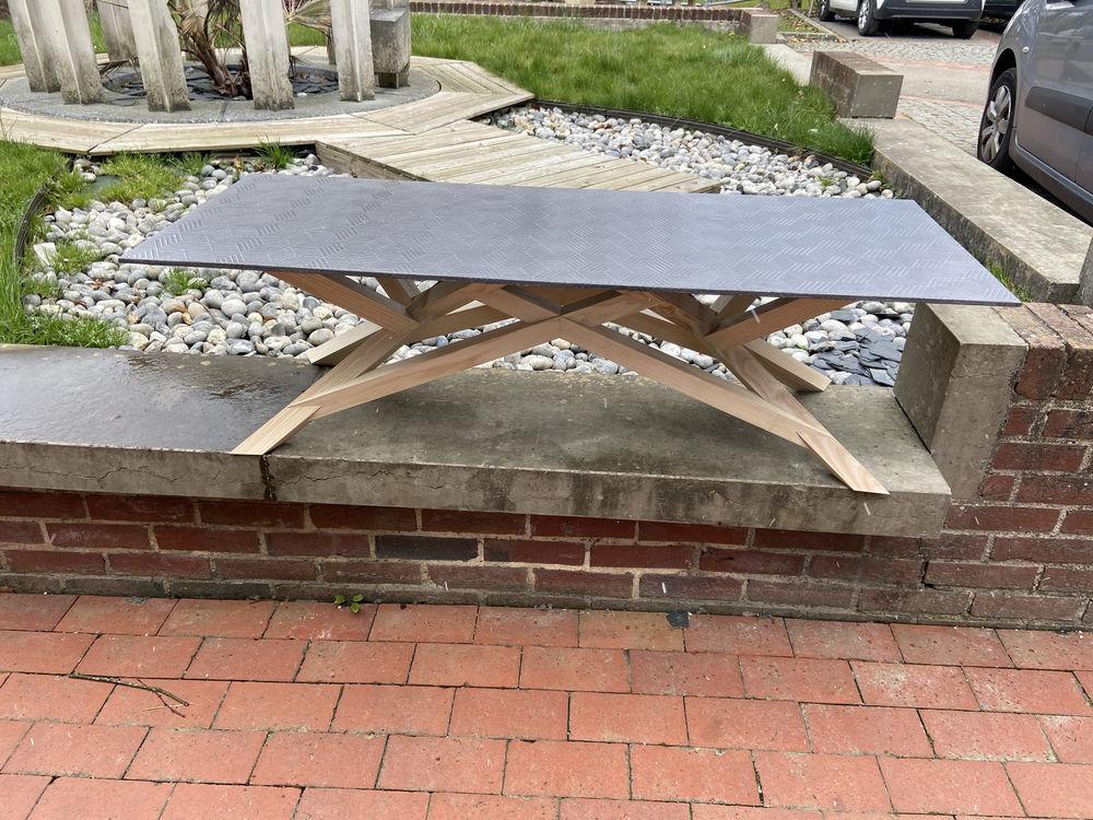 Table basse neuve design bois / béton 1950 Mont-Saint-Aignan (76)