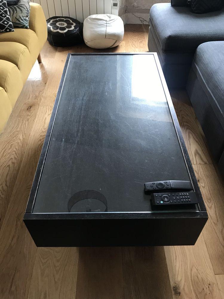 Table basse noire avec rangements 35 Bordeaux (33)