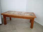Table basse , en orme massif , 1 m x 0,50 , très bon état  12 Soullans (85)
