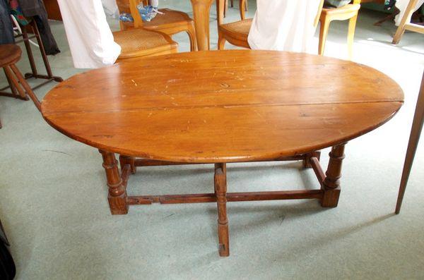 table basse ovale en bois originale modulable 350 Monflanquin (47)