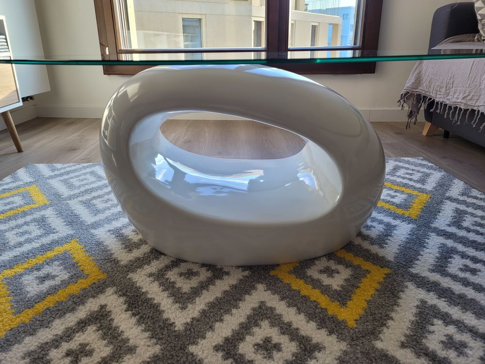 Table basse ovale blanc opaque  0 Massy (91)