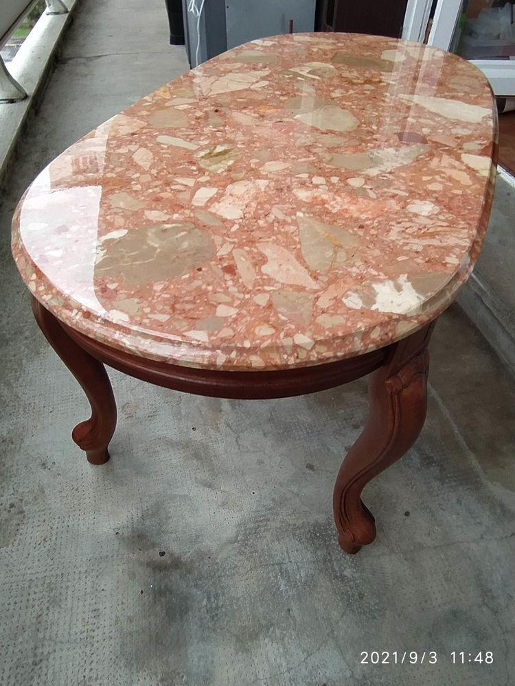 table basse plateau pierre façon marbre 65 Bayonne (64)