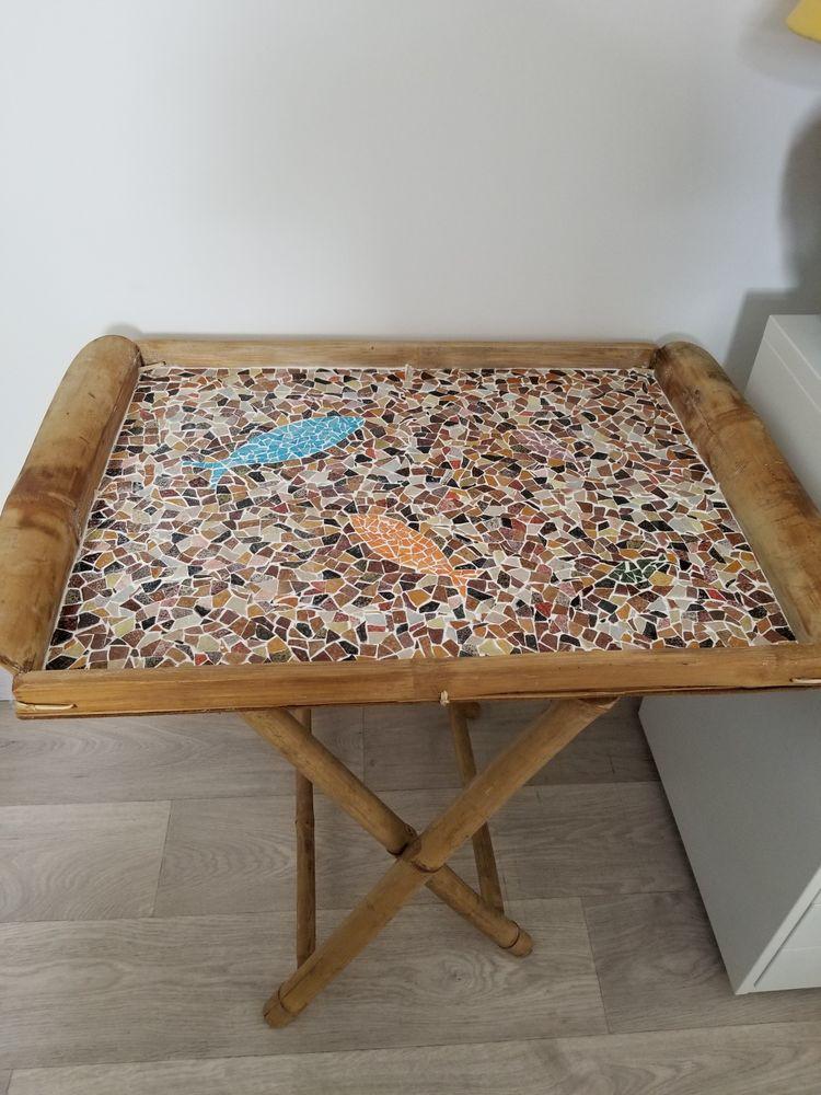 Table basse pliante en mosaïque 80 Ozouer-le-Voulgis (77)