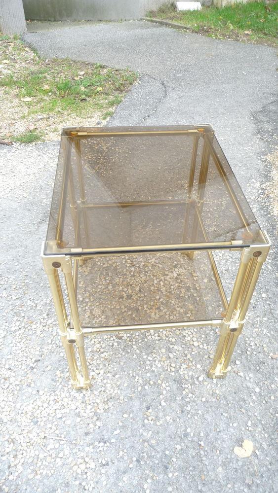 Table basse rectangulaire en verre vintage 70' 190 Trappes (78)
