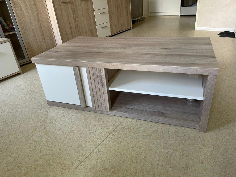 Table basse rectangulaire blanc/chêne clair 150 Jacob-Bellecombette (73)