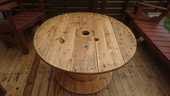 Table basse ronde bois touret de câble salon de jardin  110 Aufferville (77)