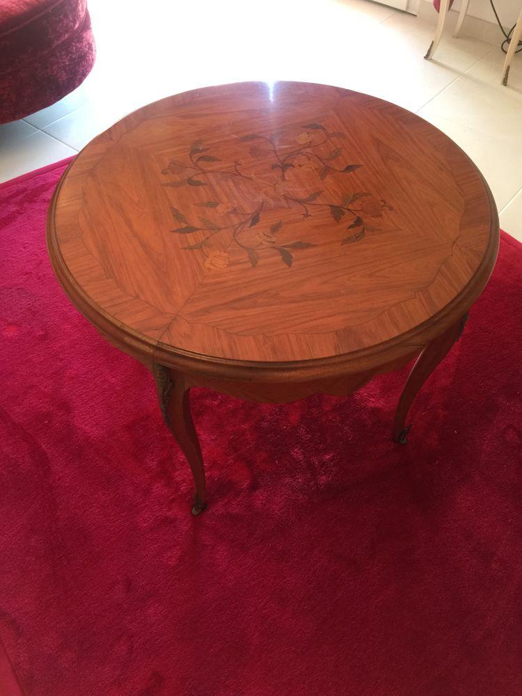 Table basse ronde bois de rose 65 Janvry (91)