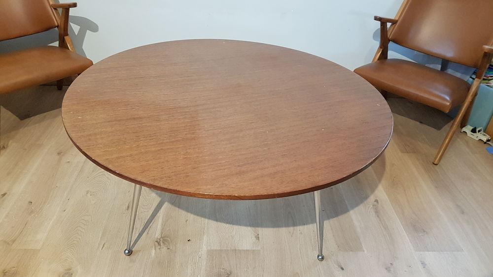 Table basse ronde vintage 70 160 Arles (13)