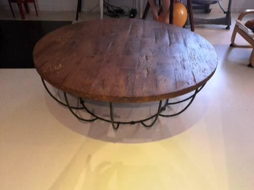 Table basse ronde en bois et fer 250 Toulouse (31)