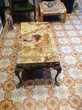 Table basse de salon en onyx et bronze Meubles