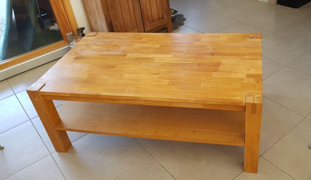Table basse de salon en chêne  double plateaux 60 Savines-le-Lac (05)